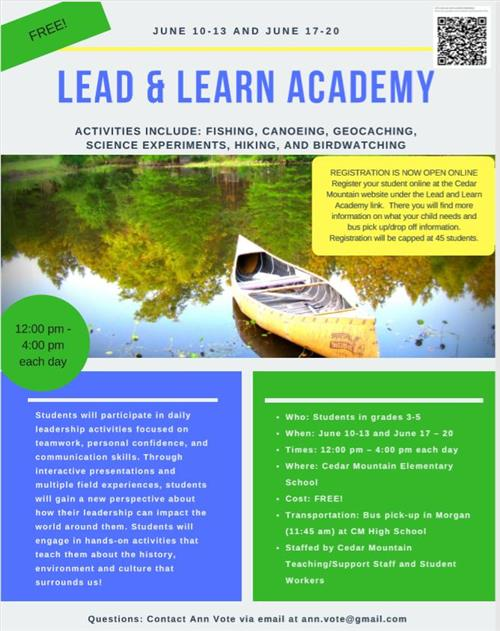 Lead and Learn Academy Picture Spring 2019