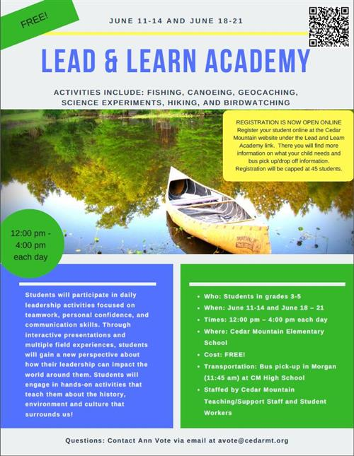 Lead and Learn Academy Flyer Picture