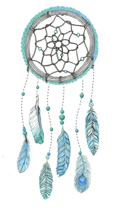 blue dream catcher